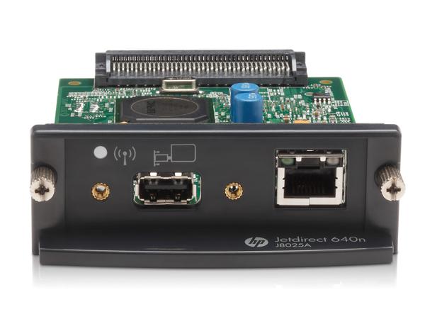 HP JetDirect 640n - Druckserver - EIO - Gigabit Ethernet - für Color LaserJet CP3505; DesignJet HD Pro MFP, SD Pro MFP, T7200, Z2600, Z5600, Z6600, Z6800