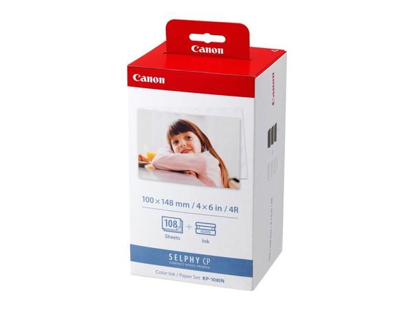 Canon KP-108IN - 3 - Farbe (Cyan, Magenta, Gelb) - Druckpatrone / Papiersatz - für SELPHY CP1000, CP1200, CP330, CP530, CP770, CP780, CP790, CP800, CP820, CP900, CP910