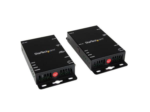 StarTech.com HDMI over CAT5 HDBaseT Extender - RS232 - 4K - 330 ft (100m) - Video/Infrarot/Serieller Extender - Ethernet, HDMI