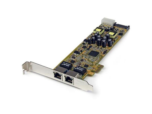 StarTech.com Dual Port PCI Express Gigabit Netzwerkkarte - PCIe PoE/PSE NIC Server Adapter - Netzwerkadapter - PCIe - Gigabit Ethernet x 2