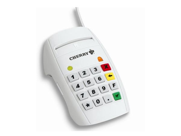 CHERRY eHealth Terminal ST-2052 - SMART-Kartenleser - USB - weiß