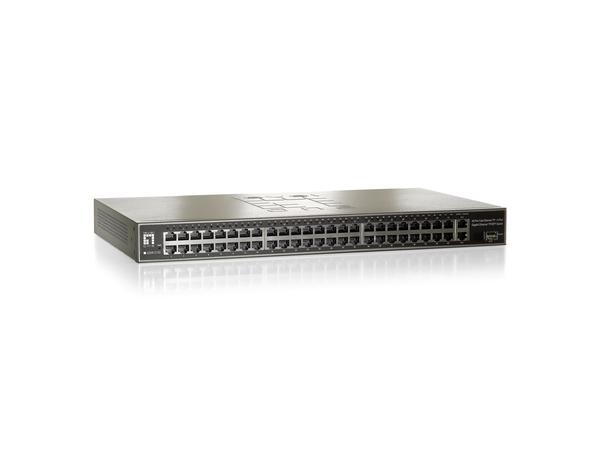 LevelOne GSW-5150 - Switch - 48 x 10/100 + 1 x SFP + 2 x 10/100/1000 - an Rack montierbar