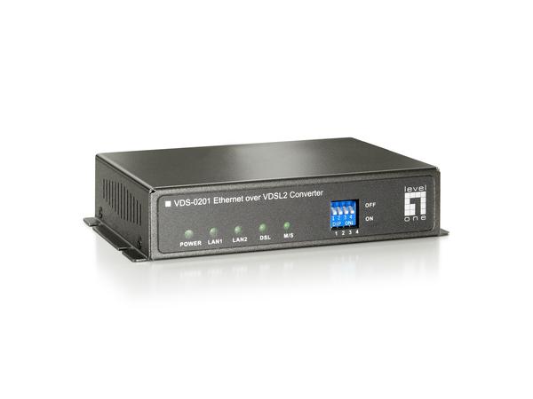 LevelOne VDS-0202 - Kurzstreckenmodem - Ethernet, Fast Ethernet, Ethernet over VDSL - 10Base-T, 100Base-TX - bis zu 2 km