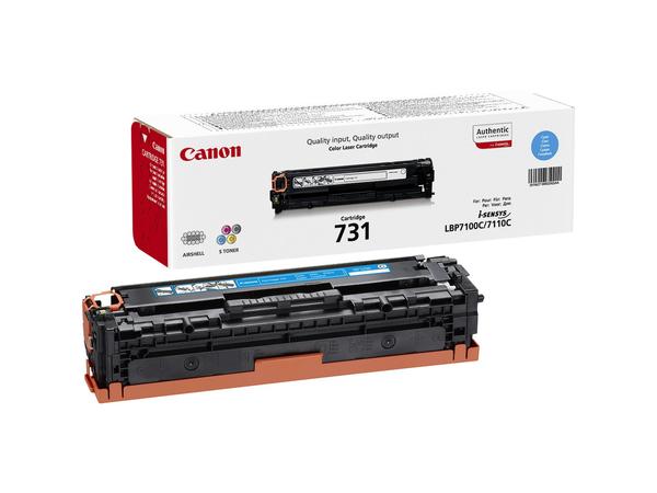 Canon 731 C - Cyan - Original - Tonerpatrone - für i-SENSYS LBP7100Cn, LBP7110Cw, MF8230Cn, MF8280Cw 6271B002