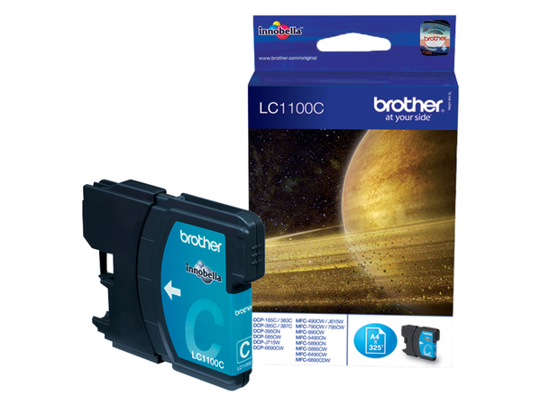 Brother LC1100C - Cyan - Original - Tintenpatrone - für Brother DCP-185, 385, 395, 585, 6690, J715, MFC-490, 5490, 5890, 6890, 790, 795, 990, J615