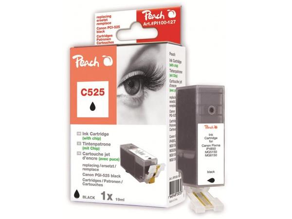 Peach PI100-127, Schwarz, 19 ml, 400 Seiten