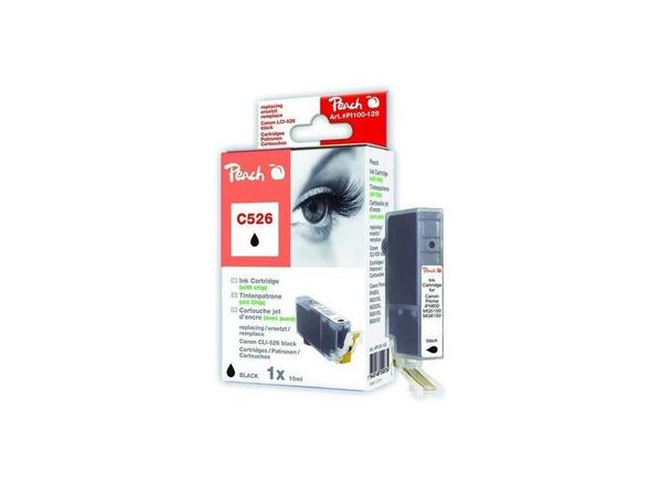 Peach C526 ph bk XL-Tintenpatrone foto schwarz, Foto schwarz, Canon Pixma IP 4850 Canon Pixma IP 4950 Canon Pixma IX 6550 Canon Pixma MG 5150 Canon Pixma MG..., CLI-526, CLI-526 bk, 32 mm, 130