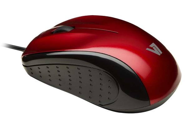 V7 MOUSE OPTICAL USB BLK/RED
