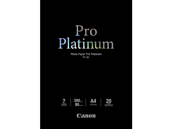 Canon Photo Paper Pro Platinum - A4 (210 x 297 mm) - 300 g/m² - 20 Blatt Fotopapier - für PIXMA iP3600, MP240, MP480, MP620, MP980