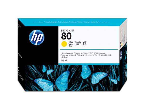 HP 80 - 175 ml - Gelb - Original - Tintenpatrone - für DesignJet 1050c, 1050c plus, 1055cm, 1055cm plus