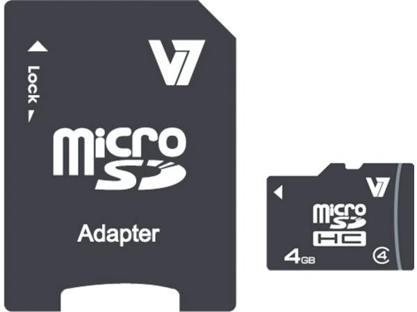 V7 MICROSD CARD 4GB SDHC CL4