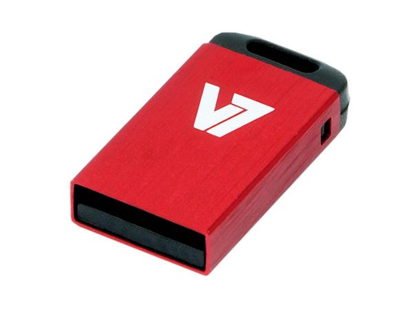 V7 VU232GCR-RED-2E - USB-Flash-Laufwerk - 32 GB - USB 2.0 - Rot