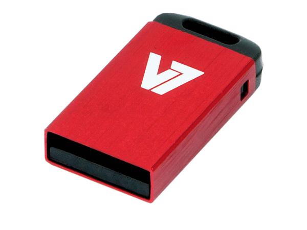 V7 Nano VU24GCR-RED-2E - USB-Flash-Laufwerk - 4 GB - USB 2.0 - Rot