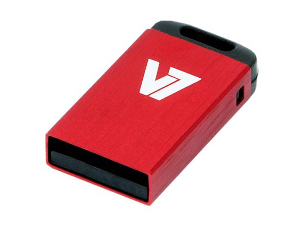 V7 VU28GCR-RED-2E - Nano USB-Flash-Laufwerk - 8 GB - USB 2.0 - Rot