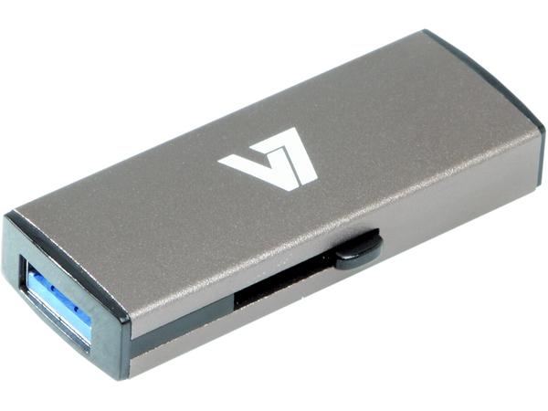 V7 VU316GDR-GRY-2E - USB-Flash-Laufwerk - 16 GB - USB 3.0 - Silber