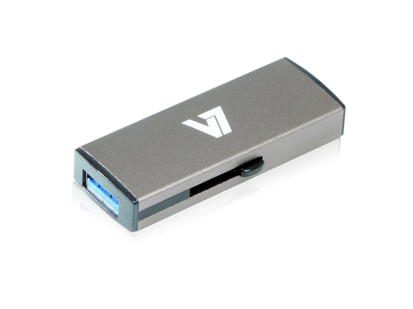 V7 VU332GDR-GRY-2E - USB-Flash-Laufwerk - 32 GB - USB 3.0 - Silber