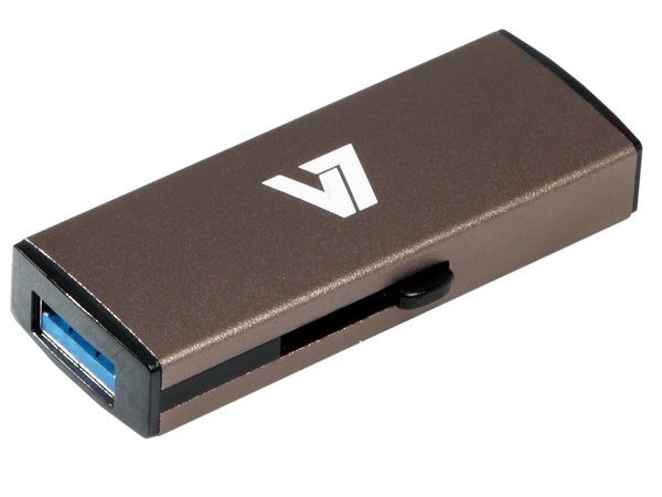 V7 VU38GDR-GRY-2E - USB-Flash-Laufwerk - 8 GB - USB 3.0 - Silber