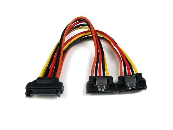 StarTech.com 6in Latching SATA Power Y Splitter Cable Adapter - M/F - Netz-Splitter - SATA Leistung (M) bis SATA Leistung (W) - 15.24 cm - eingerastet