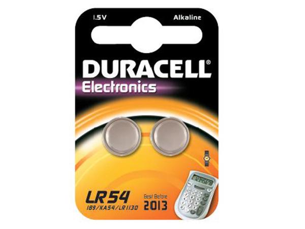 Duracell Electronics LR54 - Batterie 2 x LR54 Alkalisch