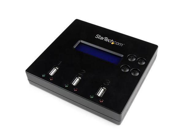 StarTech.com 1:2 Standalone USB 2.0 USB Stick Duplizierer und Eraser - Flash Drive Kopierer - USB-Disk-Duplikator - 2 Schächte