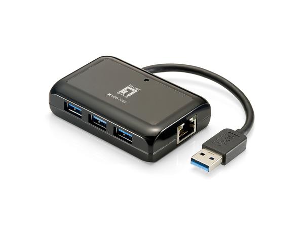 LevelOne USB-0502 - Netzwerkadapter - USB 3.0 - 10Mb LAN, 100Mb LAN, GigE - 10Base-T, 100Base-TX, 1000Base-T