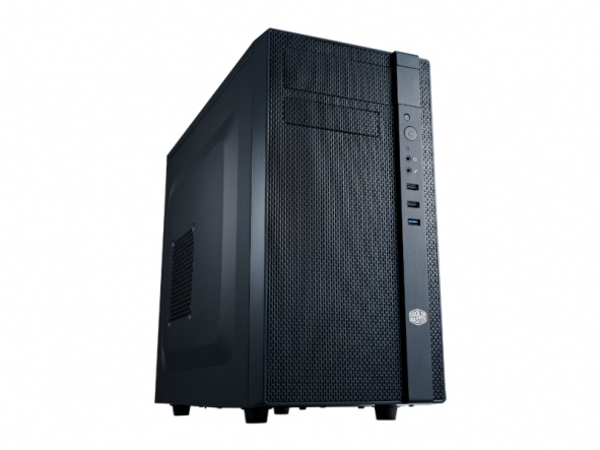 Cooler Master N200 - Midi Tower - mini ITX / micro ATX - ohne Netzteil (ATX / PS/2) - schwarz - USB/Audio