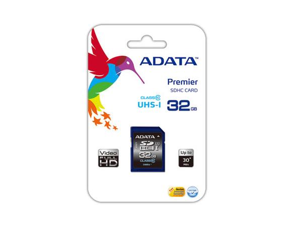 SD Card  32GB ADATA  SDHC          (UHS-I Class 10) retail