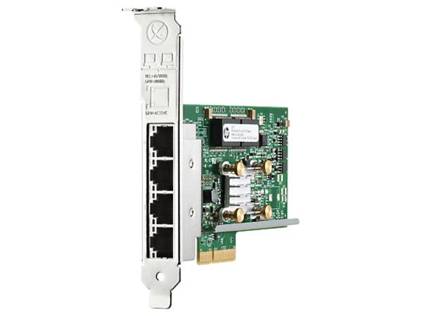 HPE 331T - Netzwerkadapter - PCIe 2.0 x4 Low Profile - Gigabit Ethernet x 4 - für ProLiant DL20 Gen9, DL560 Gen9, ML10 Gen9, ML10 v2, ML110 Gen9, ML30 Gen9, XL170r Gen9