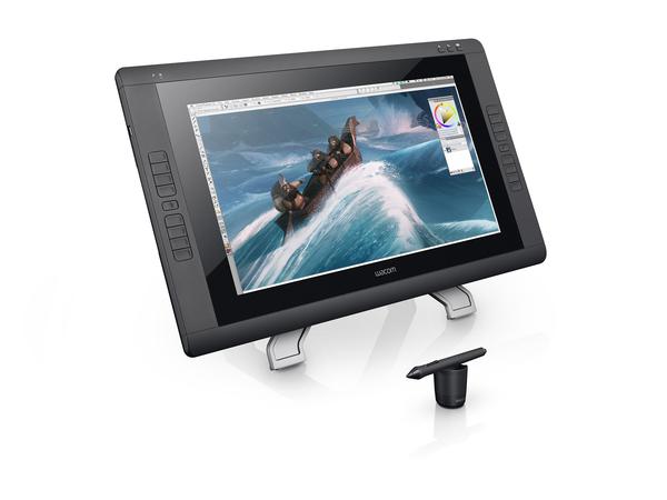 Wacom Cintiq 22HD Touch - Digitalisierer mit LCD Anzeige - 47.9 x 27.1 cm - elektromagnetisch - 16 Tasten - verkabelt