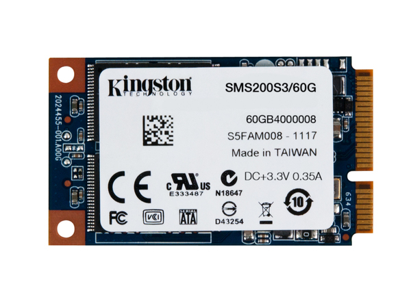 Kingston SSDNow mS200 - Solid-State-Disk - 60 GB - intern - mSATA (mSATA) - SATA 6Gb/s