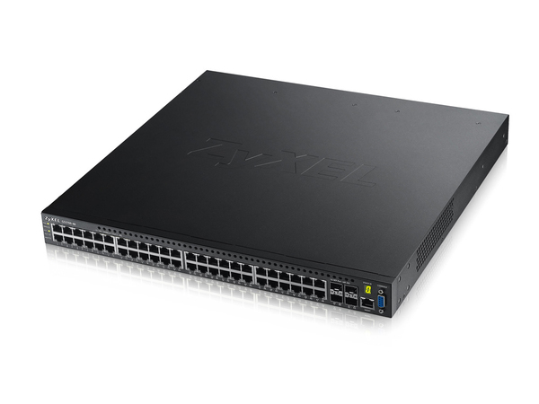 ZyXEL GS3700-48 - Switch - L2+ - verwaltet - 48 x 10/100/1000 + 4 x Gigabit SFP - an Rack montierbar