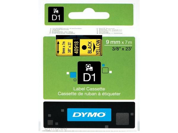 DYMO D1 - Polyester - selbstklebend - Schwarz auf Gelb - Rolle (0,9 cm x 7 m) 1 Rolle(n) Etikettenband - für LabelMANAGER