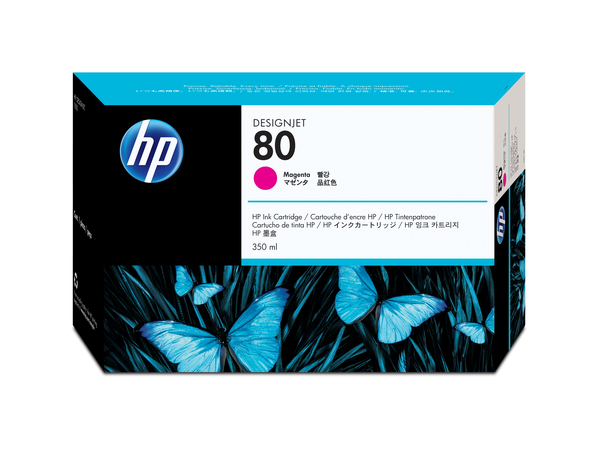 HP 80 - 350 ml - Magenta - Original - Tintenpatrone - für DesignJet 1050c, 1050c plus, 1055cm, 1055cm plus