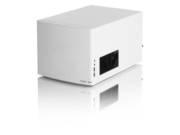 Fractal Design Node 304 - Desktop - Mini-ITX - ohne Netzteil ( ATX ) - weiß - USB/Audio