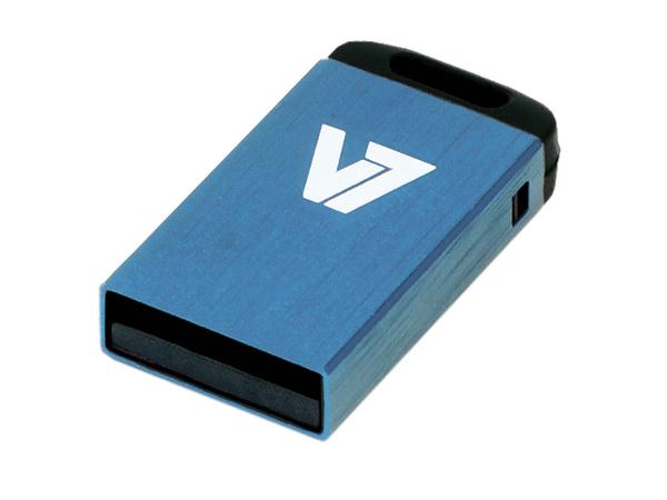 V7 VU216GCR-BLU-2E - Nano USB-Flash-Laufwerk - 16 GB - USB 2.0 - Blau