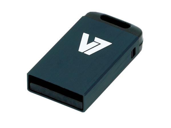 V7 VU24GCR-BLK-2E - Nano USB-Flash-Laufwerk - 4 GB - USB 2.0 - Schwarz