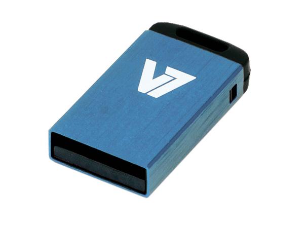 V7 VU24GCR-BLU-2E - Nano USB-Flash-Laufwerk - 4 GB - USB 2.0 - Blau