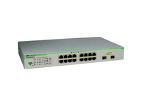 Allied Telesis AT GS950/16PS - Switch - verwaltet - 16 x 10/100/1000 (PoE+) + 2 x Kombinations-Gigabit-SFP (PoE+) - Desktop, an Rack montierbar, wandmontierbar - PoE+ (185 W)