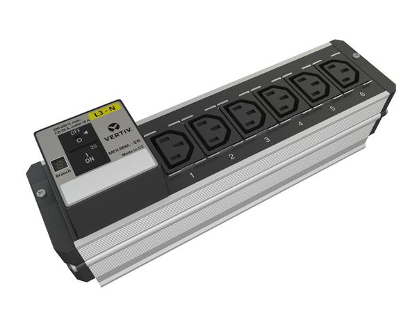 Liebert MPX BRM Branch Monitoring - Erweiterungsmodul für Stromverteilungseinheit ( Rack - einbaufähig ) - Ausgangsbuchsen: 6 - Europa - Schwarz, Aluminium, RAL 9011