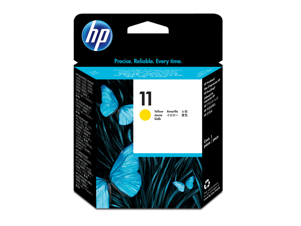 HP 11 - Gelb - Druckkopf - für Business Inkjet 1000, 1200, 2800; DesignJet 11X, 500, 510, 70, 820; Officejet Pro K850