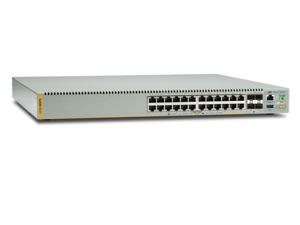 Allied Telesis AT X510-28GPX - Switch - L2+ - verwaltet - 24 x 10/100/1000 (PoE+) + 2 x 10 Gigabit Ethernet / 1 Gigabit Ethernet SFP+ + 2 x 10 Gigabit SFP+ - an Rack montierbar