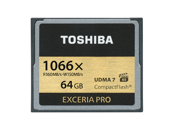 Toshiba EXCERIA Pro - Flash-Speicherkarte - 64 GB - 1066x - CompactFlash - Schwarz