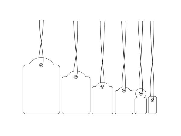 HERMA Strung marking tags - Namensetiketten - weiß - 15 x 24 mm 1000 Etikett(en)
