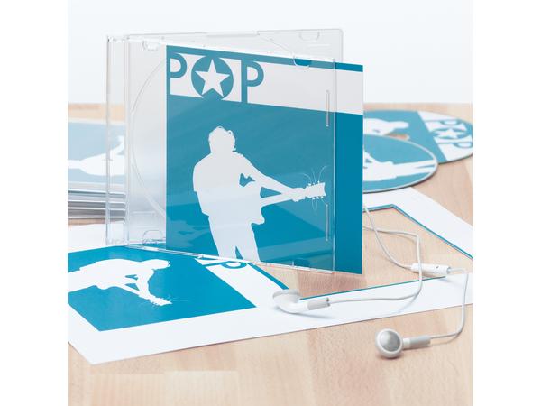 HERMA Special - CD-Etiketten / -Einlagen - High White - 121 x 242 mm 25 Blatt