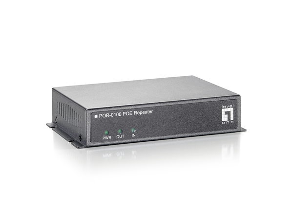 LevelOne POR-0100 PoE Repeater - Repeater - Fast Ethernet - 10Base-T, 100Base-TX - bis zu 100 m