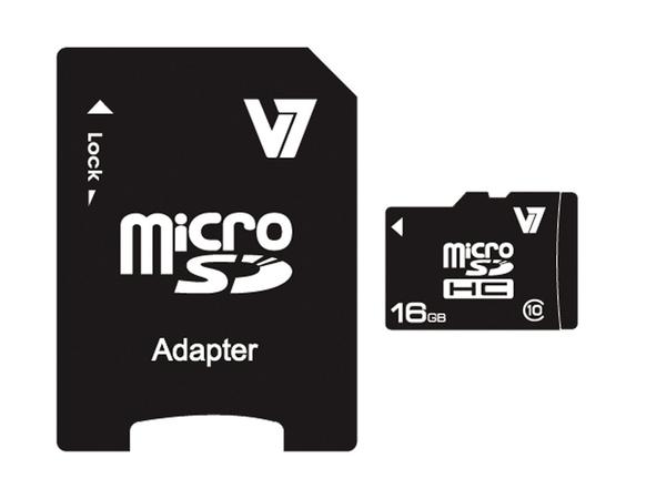 V7 MICROSD CARD 16GB SDHC CL10