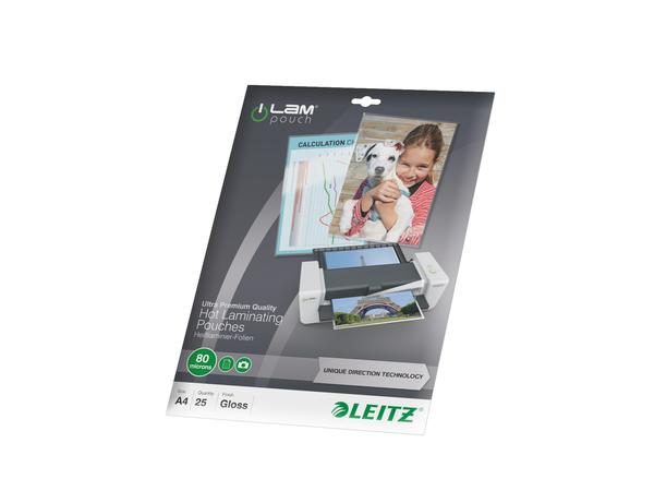 Leitz - 25 - glänzend, Crystal Clear - A4 (210 x 297 mm) Taschen für Laminierung