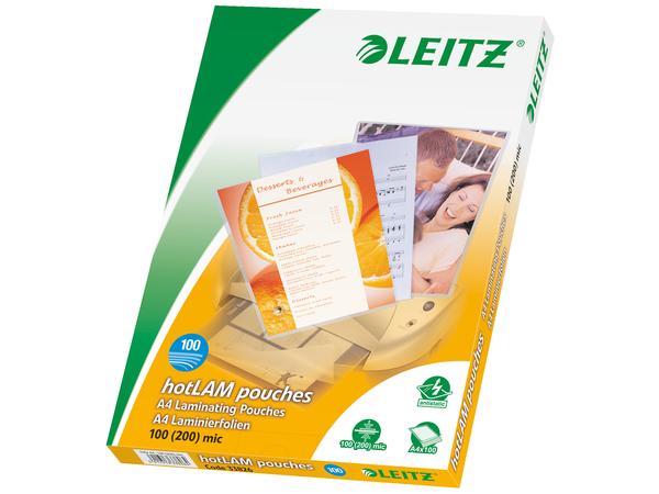 Leitz - 100 - glänzend - A4 (210 x 297 mm) Taschen für Laminierung
