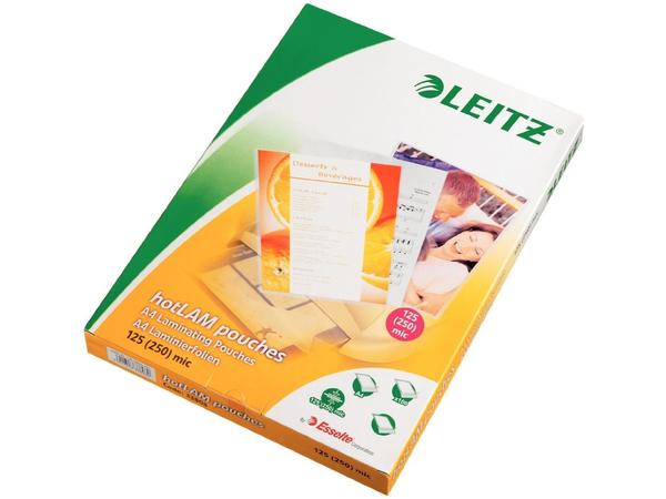 Leitz - 125 Mikron - 100 - Clear Glossy - 216 x 303 mm Taschen für Laminierung