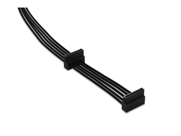 be quiet! S-ATA POWER CABLE CS-3420 - Stromkabel - SATA Leistung - 40 cm - Schwarz